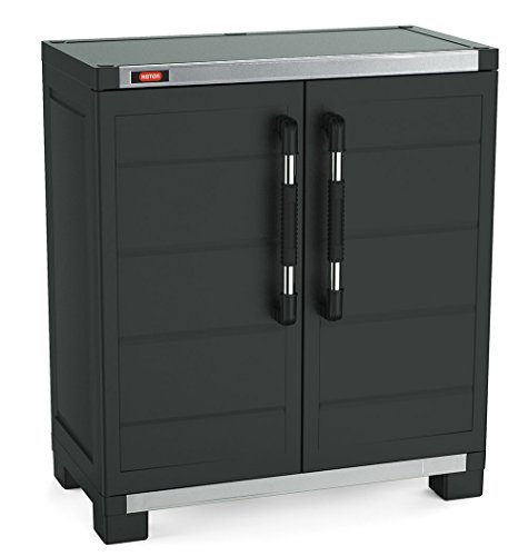 Keter XL Pro Freestanding Durable Resin Plastic Utility Base Cabinet with Adjustable Shelving, (Resin Garage Storage)