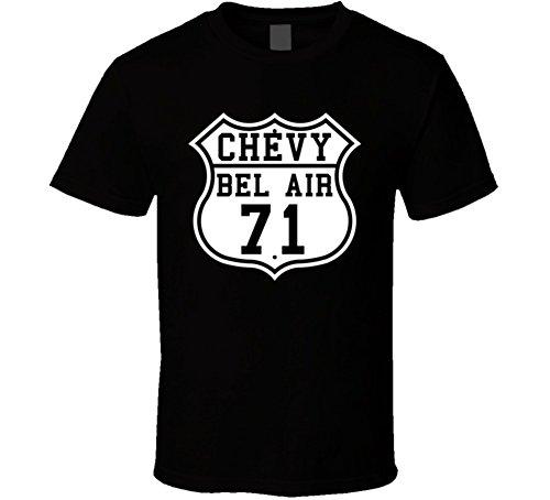 (Highway Route 1971 Bel Air Classic Car T Shirt M)