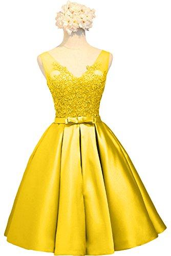 Brautjungfernkleider mia La Ballkleider Cocktailkleider Abendkleider Gelb Damen Braut Spitze Kurzes Rosa Knielang vwUqwda