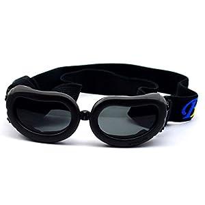 Dog Sunglasses Eye Wear UV Protection Goggles Pet Fashion Extra Small Black