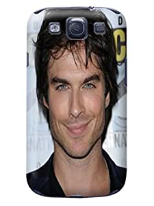 Pretty tpu phone cover/case with texture for Samsung Galaxy s3(Ian Somerhalder) by Paul Lawrencen