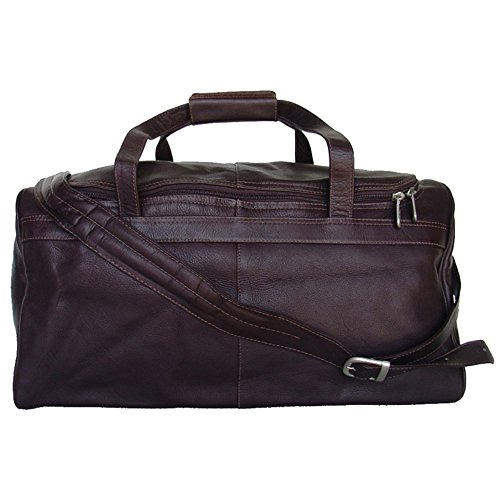 Piel Leather Travelers Select Small Duffel Bag - (Chocolate Small Rolling Luggage)