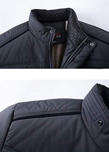 Col Montant Mâle Warm Poches Manteau Pour Warmet Rembourré Marine Homme Coton Latérales D'hiver D'extérieur Épais En xnqIxUptw