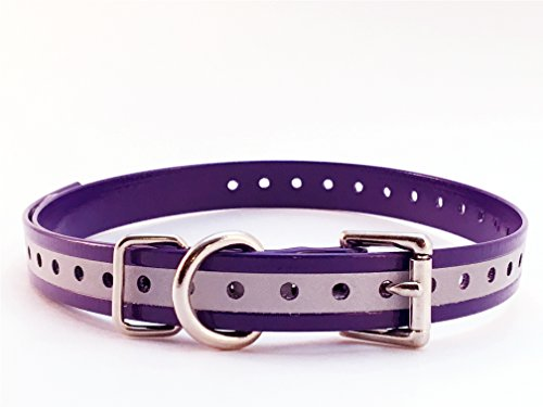 sparky-petco-3-4-roller-buckle-hi-flex-reflective-strap-purple-for-garmin-dogtra-petsafe-sportdog-e-