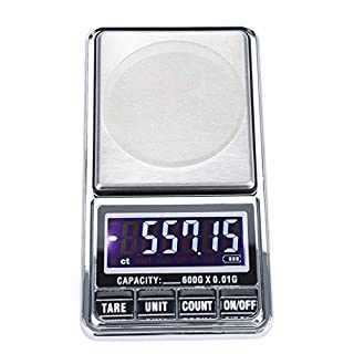 Digital Kitchen Weighing Scales, USB High Precision Balance Electronic Pocket Weight Gram Scale 120x67x17.5mm(600g/0.01g)