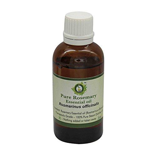 R V Essential Pura esencial de romero 100ml de aceite (3.38 oz)- Rosmarinus officinalis (100% puro y natural de Grado...