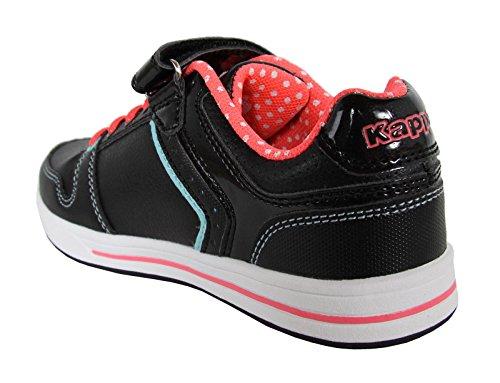 Kappa Zapatillas Deporte de Niño y Niña y Mujer 302EYC0 Reggia 953 Black-Neon Pink