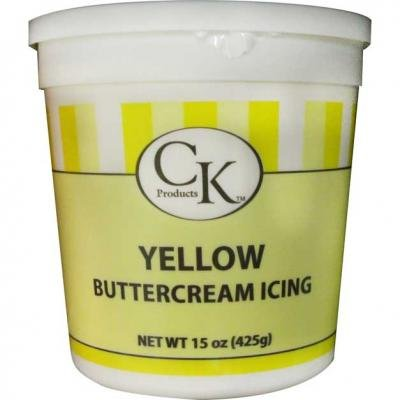 CK PRODUCTS DECORATING BUTTERCREAM ICING CAKE TOPPER 30 OZ YELLOW (Buttercream Icing Butter)