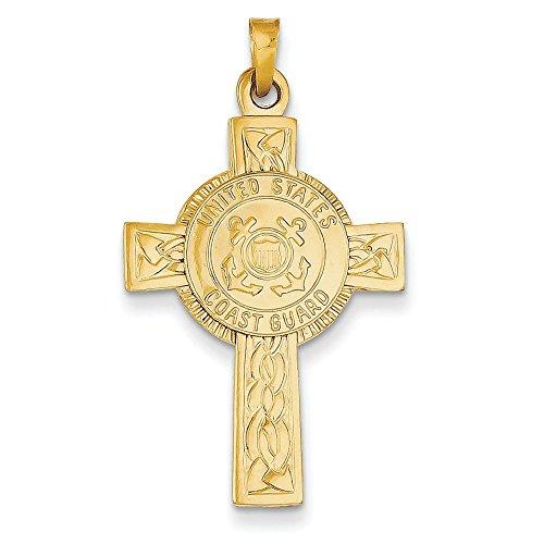 Coast Guard croix 14 carats avec pendentif-JewelryWeb Insignia