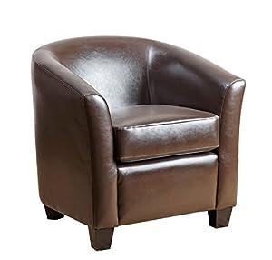 abbyson montecito leather armchair