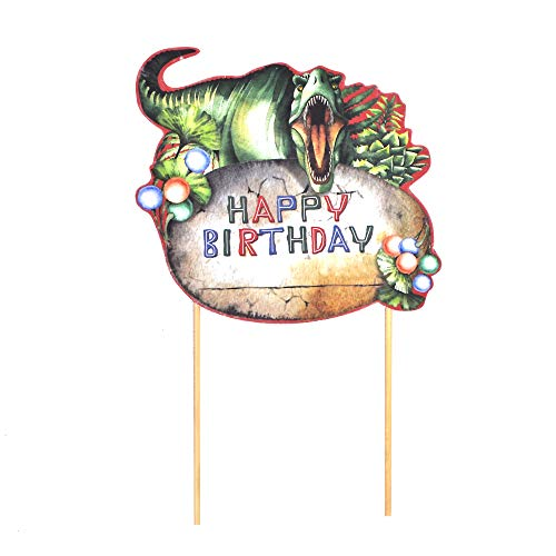 Paper Jazz Dinosaur theme party cake topper cupcake topper cake decoration party favor (cake -