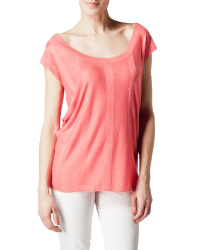 Kookaï - Camisetas sin mangas de punto para mujer, talla L, color Rosa (Bubble Pink) Rosa (Bubble Pink)
