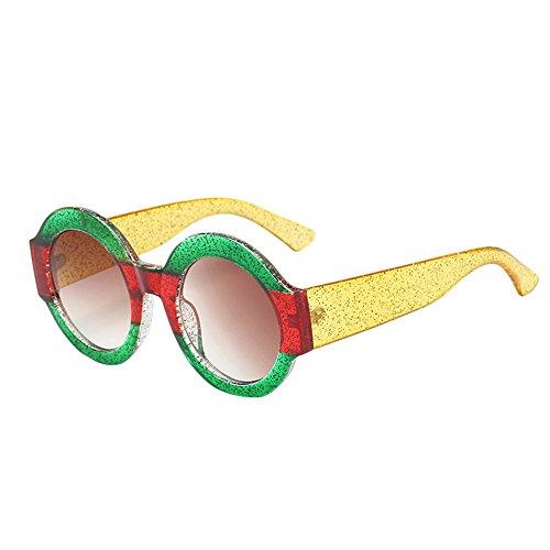 Womens Man Big Frame Eyeglass Round Shape Rapper Sunglasses Vintage Retro Eyewear Glasses Unisex Eyeglass ()