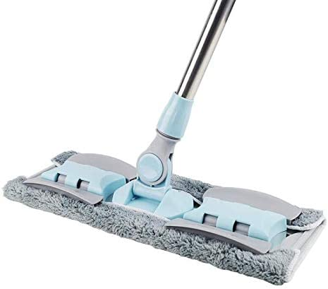 INNOVSIGN Professional Microfiber Hardwood Floor Mop for Home//Office Floor Cleaning Blue Adjustable Stainless Steel Handle with 5 Reusable Mop Pads Dry /& Wet Flat Cleaning Mop