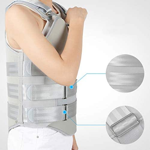Ckssyao Thoracic and Lumbar Vertebrae Orthosis Can Be Adjusted, Lumbar Disc Surgery Rehabilitation Men and Women Spine Rehabilitation Training Device,Gray,L