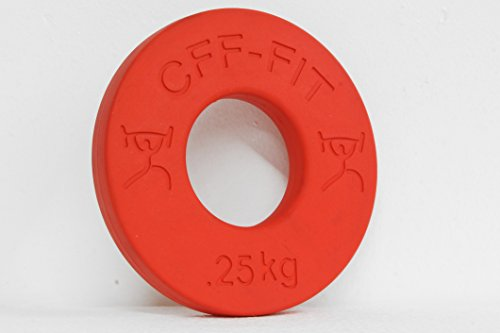 CFF 0.25 kg Competition Rubber Fractional Weight Plates – Pair