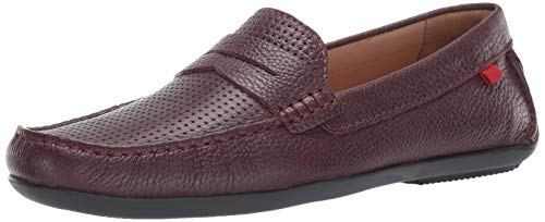 - Marc Joseph New York Mens Genuine Leather Union Street Driver Driving Style Loafer wine grainy perforated 11 D(M) US