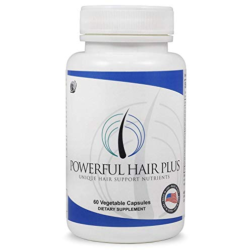 Powerful Hair Plus, Unique Hair Vitamins with Biotin For Hair, Skin & Nails, Addresses Vitamin Deficiencies That May Impact Hair Loss, Thinning, Lack of Regrowth In Men And Women, 30 Day Supply