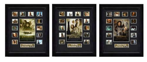 Trilogy Lord of the Rings Filmcell, holographic serial numbered by Filmcell.co.uk by Filmcell.co.uk