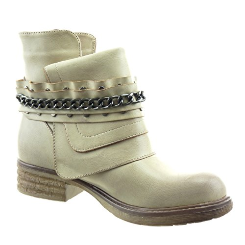Bloc Int Cha Boucle Cheville Sopily CM Chaussure Bottine Femmes Mode Cavalier Motard 3 Talon nes BqB6gPxpw0