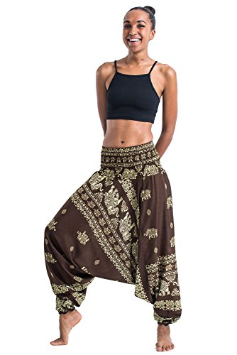 harem-pants-womens-mens-2-in-1-convertible-jumpsuit-elephant-raja-in-olive