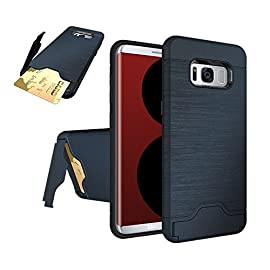 Samsung Galaxy S8 Plus Case, VPR Hybrid Slim Dual Layer Cover Advanced Shock Absorption Anti-Scratch Kickstand Protective Case with Hidden Credit Card Slot for Samsung Galaxy S8 + Plus 2017 9 Compatible with Samsung Galaxy S8 Plus (2017). Protect your phone with this modern, functional, and sleek kickstand case. Hidden slot for safe keeping of cash, credit card, or ID.