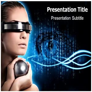 Amazon Com Virtual Reality Powerpoint Template Virtual Reality Powerpoint Ppt Presentation Backgrounds On Virtual Reality