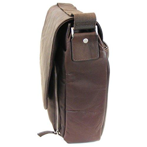 Dermata Messenger Leder 40 cm Laptopfach Braun GLAROP1