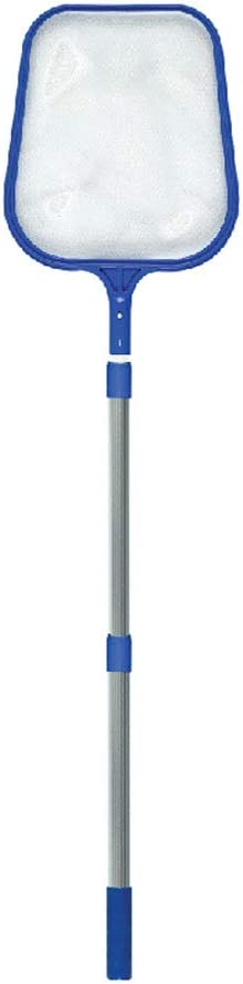"Swimline 8051SL Leaf Skimmer with 48"" Adjustable Aluminum Telescopic Pole"