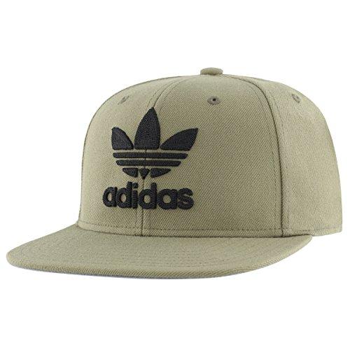 adidas Men's Originals Trefoil Chain Snapback Cap, Olive Cargo/Black, One (Cap Hat Olive)