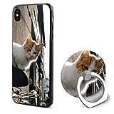 Kitten cat Bike Protection Function for iPhone X Mobile Phone Shell Ring Bracket
