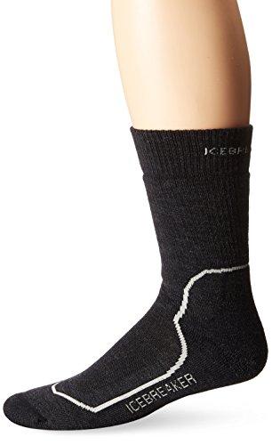 Icebreaker Men's Hike + Trek Crew Socks, Jet/Twister/Black, Large