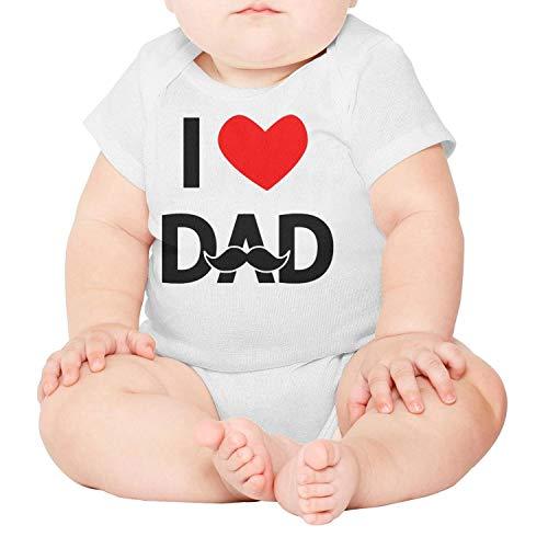 PoPBelle I Love dad Newborn,Baby Onesies,Baby Onesie} White Clothes Bodysuits Organic One-Piece Cotton Short - Rose Gifts Ftd