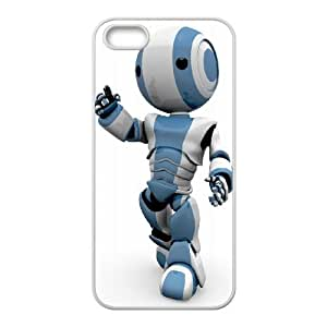 iPhone 5 5s Cell Phone Case White Robot BNY_6763397