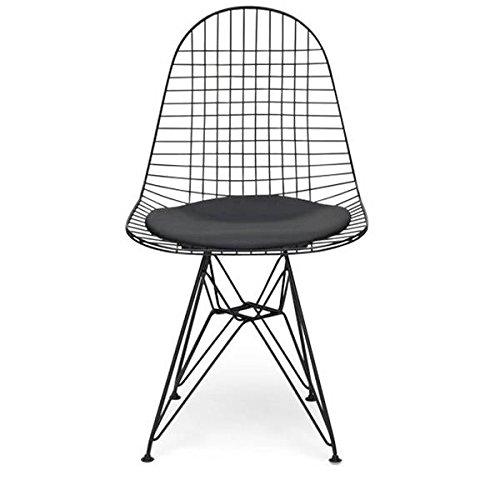 DKR Eiffel Wire Chair Silla Acero cojín Negro Rojo Blanco ...