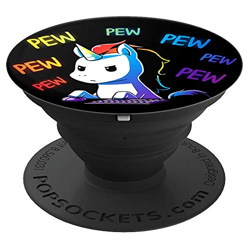 Dabbing Unicorn at gym fitness play video game pew popsocket - PopSockets Grip and Stand for Phones and Tablets -