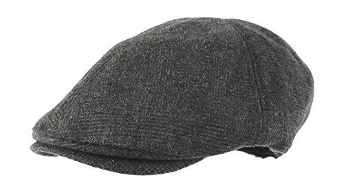 WITHMOONS Schlägermütze Golfermütze Schiebermütze Wool Newsboy Hat Flat Cap SL3021 (Charcoalcheck)