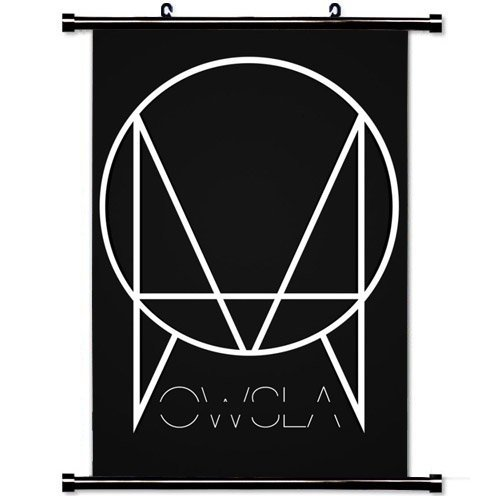 home-decor-music-hot-singer-poster-with-owsla-skrillex-label-logo-black-wall-scroll-poster-fabric-pa