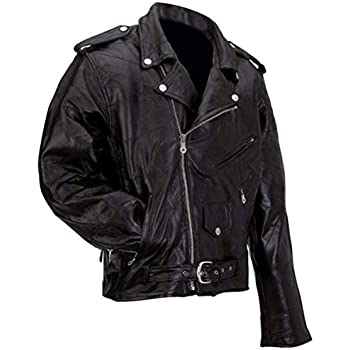 fd57973bee4 durable service Milwaukee Leather Mens Classic Side Lace Police Style Motorcycle  Jacket - 4X-Large