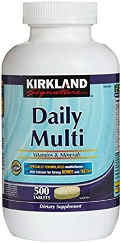 Kirkland Signature Daily Multi Vitamins & Minerals Tablets (Recommended Best Value Supplement)
