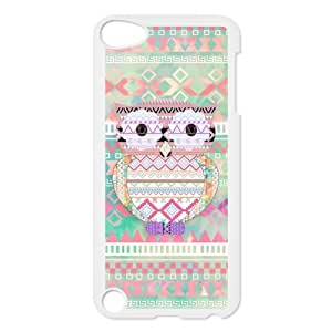 iPod 5 Case,Aztec Tribal Patterned Owl Hard Snap-On Cover Case for iPod Touch 5, 5G (5th Generation)