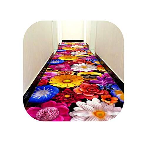 3D Creative Door mat Plant Carpet Printing Hallway Carpets Bedroom Living Room Tea Table Rugs Kitchen Bathroom Antiskid Mats,H,80x160cm