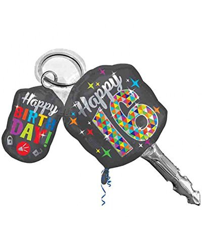 Sweet 16 Birthday Car Keys Shaped 38