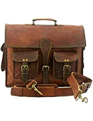Vintage Genuine Leather Laptop Briefcase messenger satchel bag