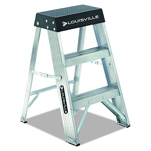 Louisville Ladder AS3002 300-Pound Duty Rating Aluminum Stepladder, 2-Foot (Mini Ladder)