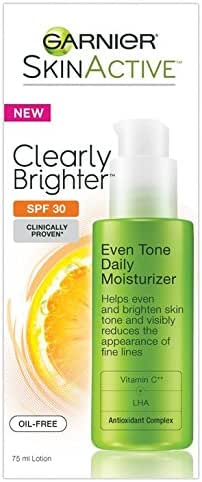 Garnier SkinActive Clearly Brighter SPF 30 Face Moisturizer with Vitamin C, 2.5 Fl Oz (Pack of 1)