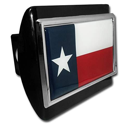 (Elektroplate Texas Flag Black Metal Hitch Cover)