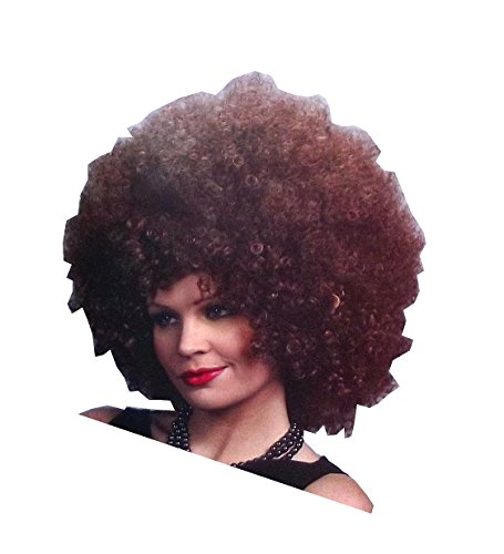Foxy Brown Afro Costume (The Enigma Collection Foxy Adult Brunette Afro Costume Wig, One Size)