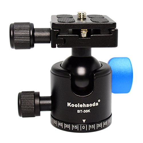 koolehaoda Pro BT-30K Lightweight Mini Tripod Head Ballhead with Quick Release Plate For Camera Tripods monopods (BT-30K) by koolehaoda