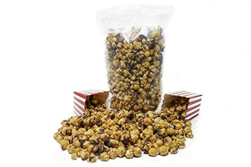 Pop'N Popcorn 'The BIG One' Caramel with Chocolate (35 oz): Perfect Treat for a Sweet Tooth| The Perfect Size Bag For a Movie Night or to Satisfy a Craving | Resealable Bag | Handcrafted